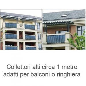 Collettore solare separato per balconi 36 tubi HP 58/900